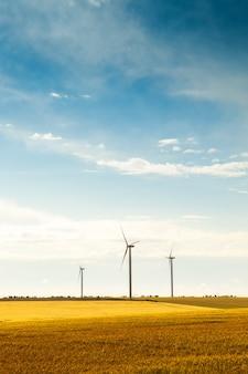 Концепция технологии электричества турбины зеленой энергии