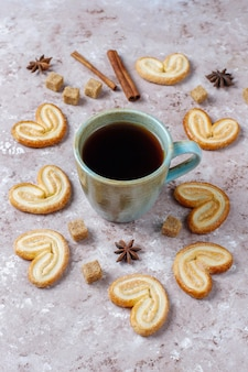 砂糖とおいしいフレンチパルミエクッキー