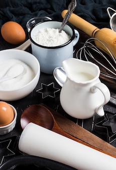 Подготовка выпечки кухонные ингредиенты для приготовления пищи