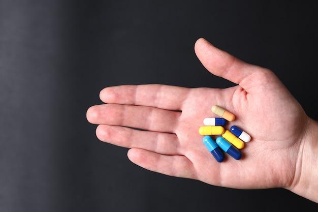 カラフルな医療薬。