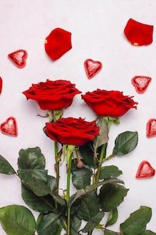 Валентинка с розами