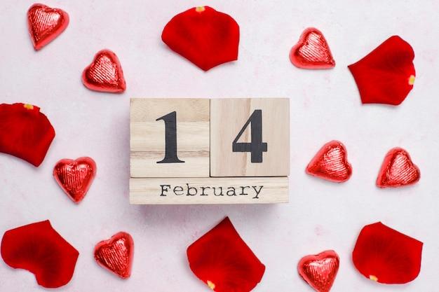バラとバレンタインの日カード