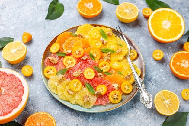 Сырой домашний цитрусовый салат