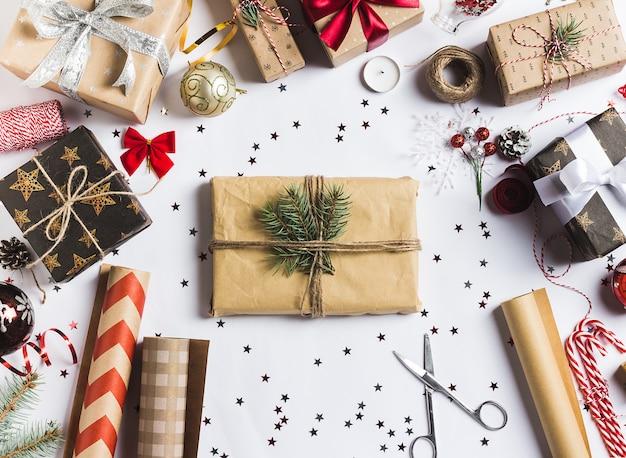 Упаковка рождественская подарочная коробка новогодняя упаковка рождественская упаковочная