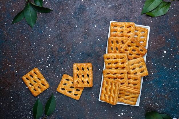おいしいパイ生地のクッキー、トップビュー