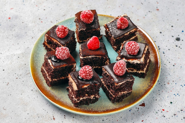 おいしい自家製ミニチョコレートケーキ