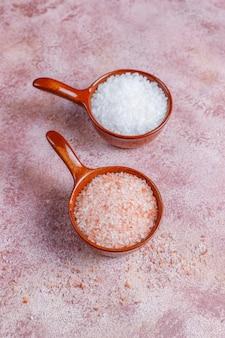 Гималайская розовая соль, вид сверху