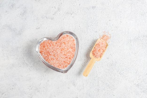 ヒマラヤピンクの塩、トップビュー