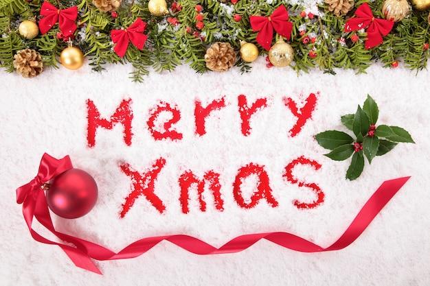 Рождественское послание, написанное на снегу