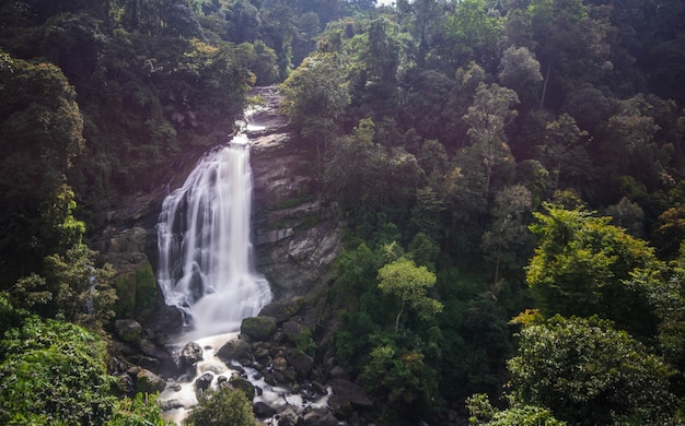 Водопад в муннаре, керала, индия
