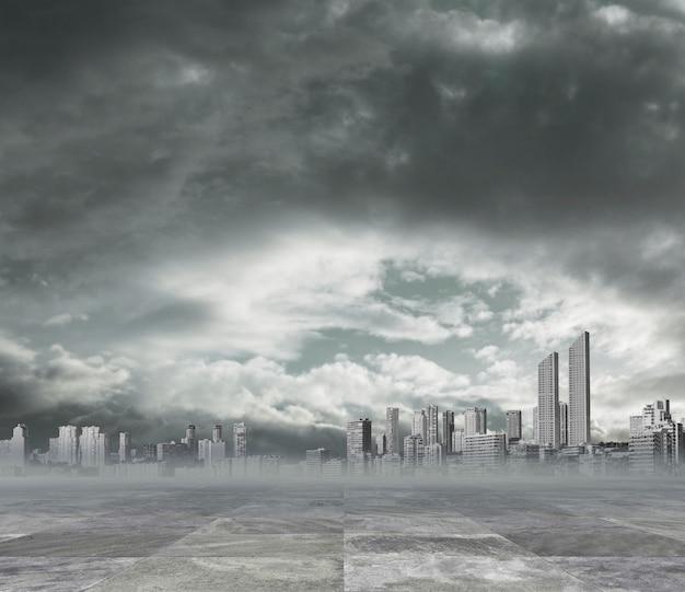 汚染された都市の背景