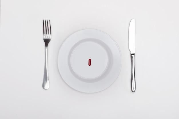 皿の上の錠剤