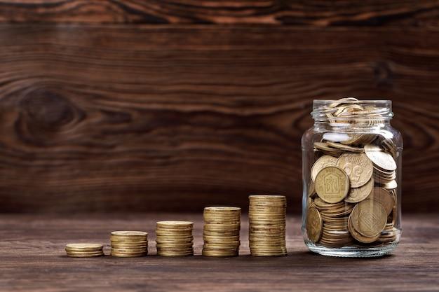 Монеты сложены друг на друга