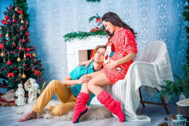 家族の輪で新年とクリスマス