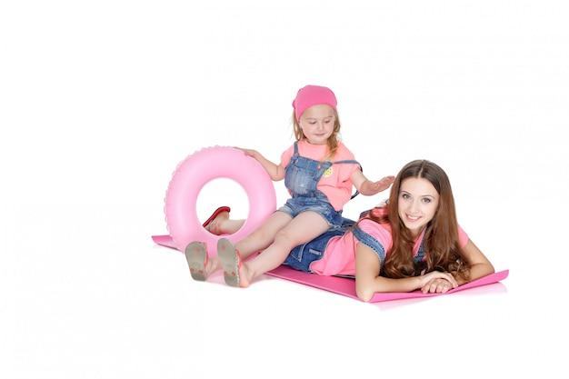 ママと娘のゴム製リング
