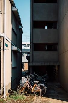 アパートの駐輪場