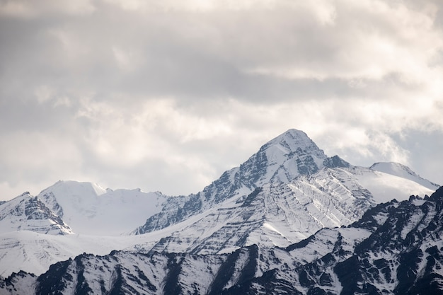 レー、インドの雪の山