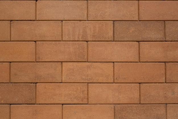 茶色のブロックレンガ。