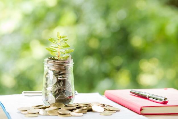 貯蓄硬貨で育つ植物