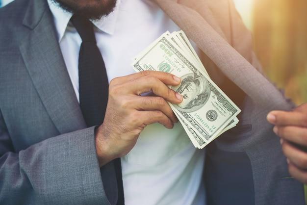 企業のスーツ白い男の背景
