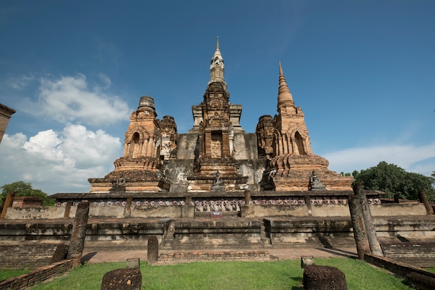 Традиционный античный храм сукхотай таиланд