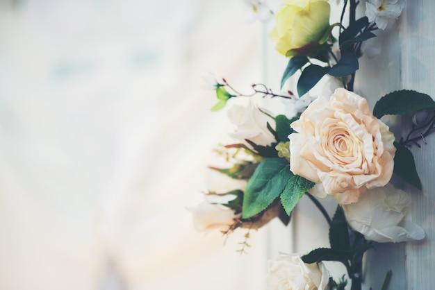 ウェディングイベントの花