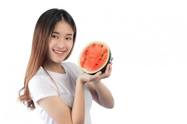 幸せな笑顔と美しい女性アジア