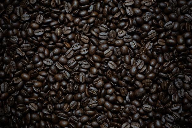 コーヒー豆の背景。