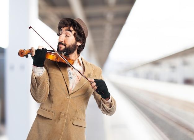 マン演奏バイオリン