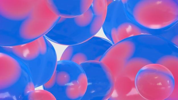 抽象的な流体バブルの背景