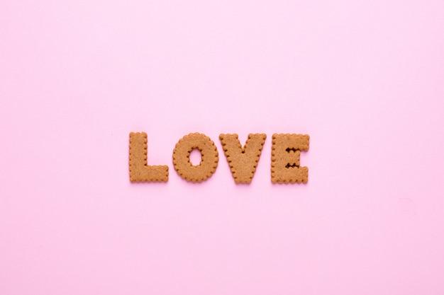 Письма вкусное печенье любовь на розовом