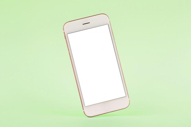 緑のパステル、技術、忙しい携帯電話