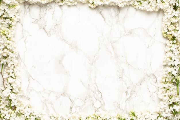 Белые сиреневые цветы фон рамки