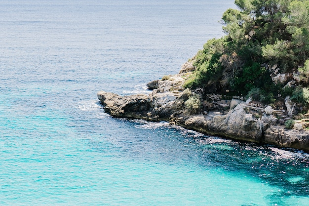 結晶海の水の空撮