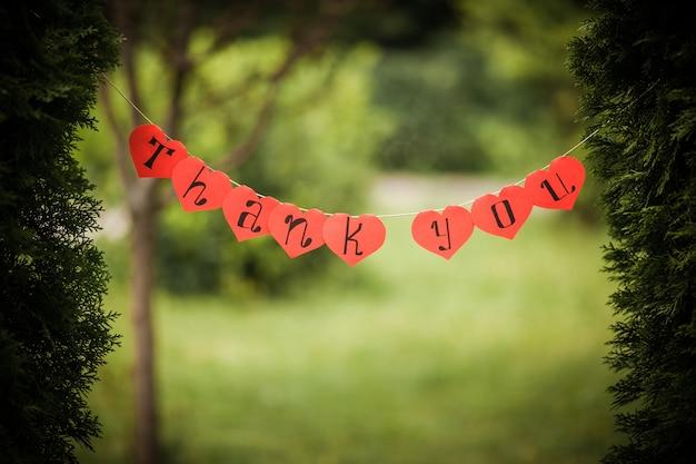 「ありがとうございます」と言うサイン