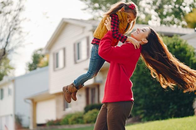 美しい母と小さな娘