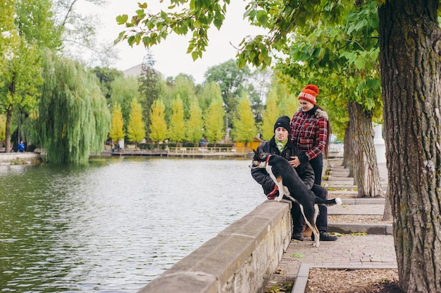 Бойфренд брюки коричневого парк досуг