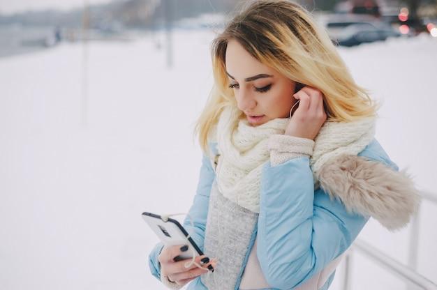 美しい冷たいジャケット通信ブルー