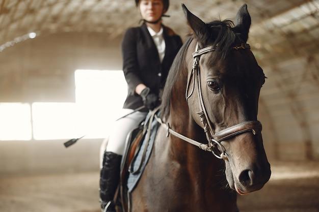 馬とライダーの列車