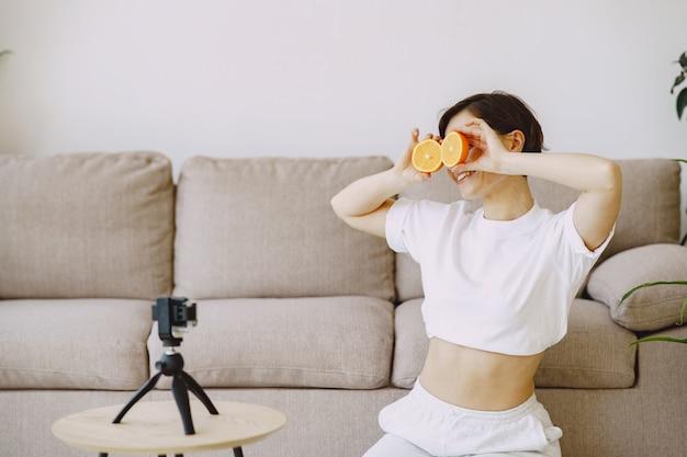 栄養士が栄養チュートリアルを撮影