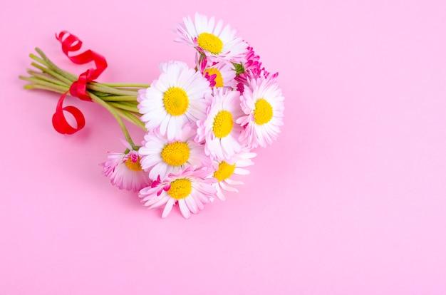 柔らかいヒナギクのカラフルな小さな花束。写真