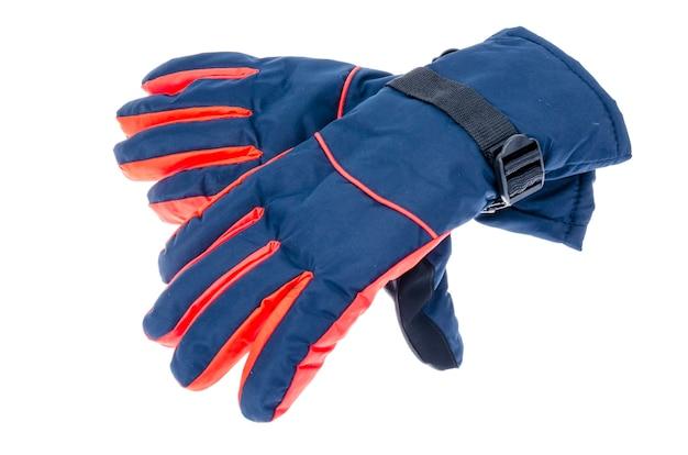 冬のスポーツ用の防水手袋。