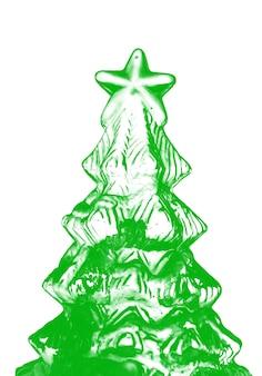 抽象的なクリスマスツリーベクトル