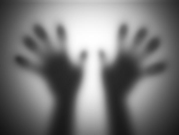 半透明の手