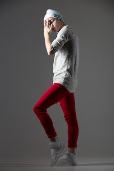 Портрет парня-танцора