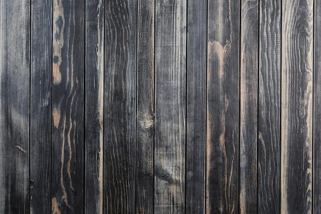 コピースペースを持つ木製の黒い背景テクスチャ