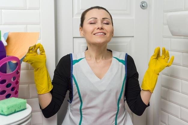 トイレでの清掃サービス
