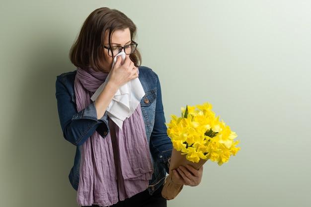 花粉に対する春のアレルギー。