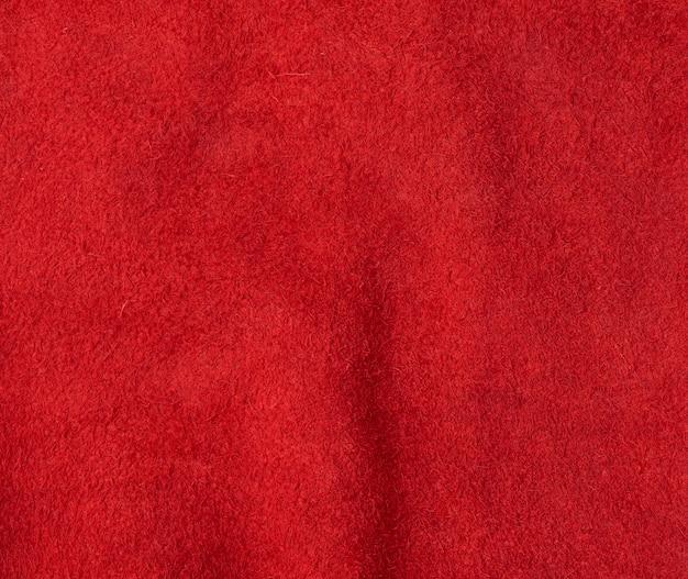 大きな繊維の赤いスエードの質感