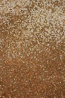小間物を縫うための黄金の革の光沢のある質感